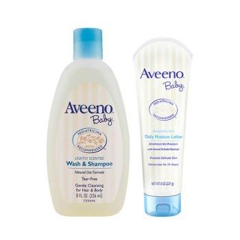 超值套装 | Aveeno 艾维诺 婴儿专用身体洗发水(两用)+婴儿专用保湿润肤乳