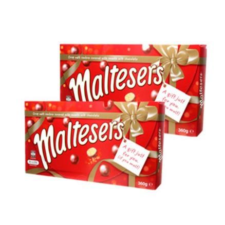 【包邮套装】Maltesers 麦丽素 圣诞礼盒 360g 2盒装
